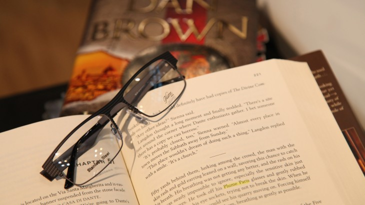 Inferno Dan Brown Plume Paris eyeglasses