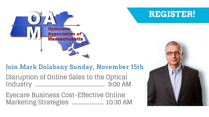 Mark Dolabany at Opticians Association of Massachusetts